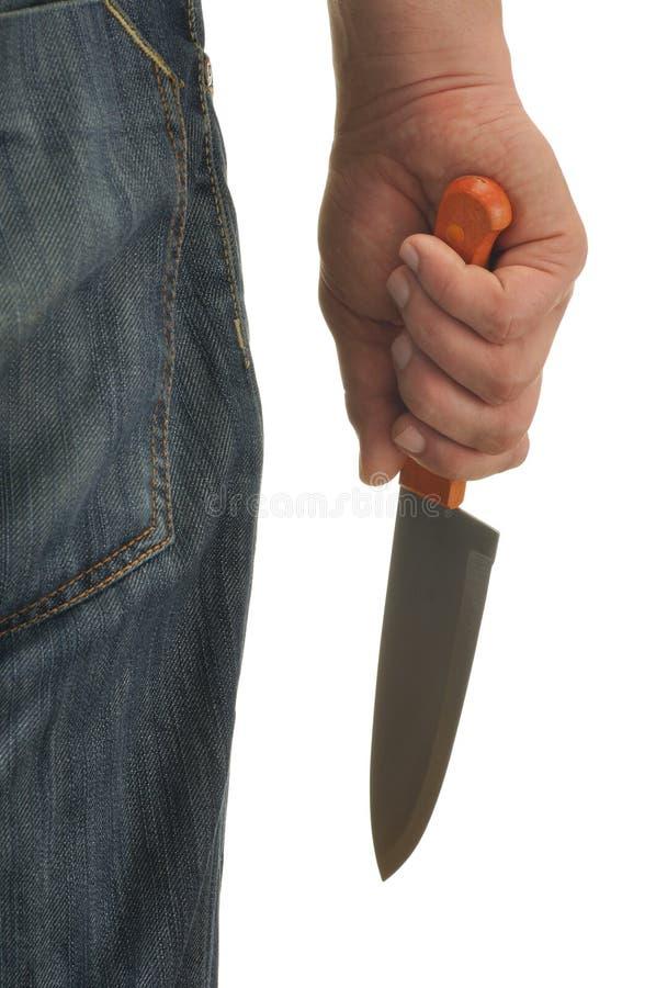 现有量刀子 免版税库存照片