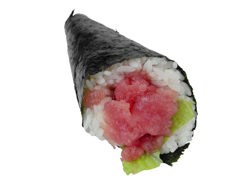 现有量卷寿司金枪鱼 免版税库存照片