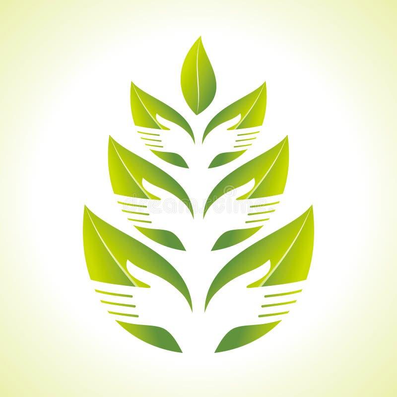 现有量和叶子剪影 库存例证