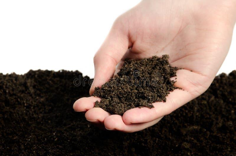 现有量土壤whith 免版税图库摄影