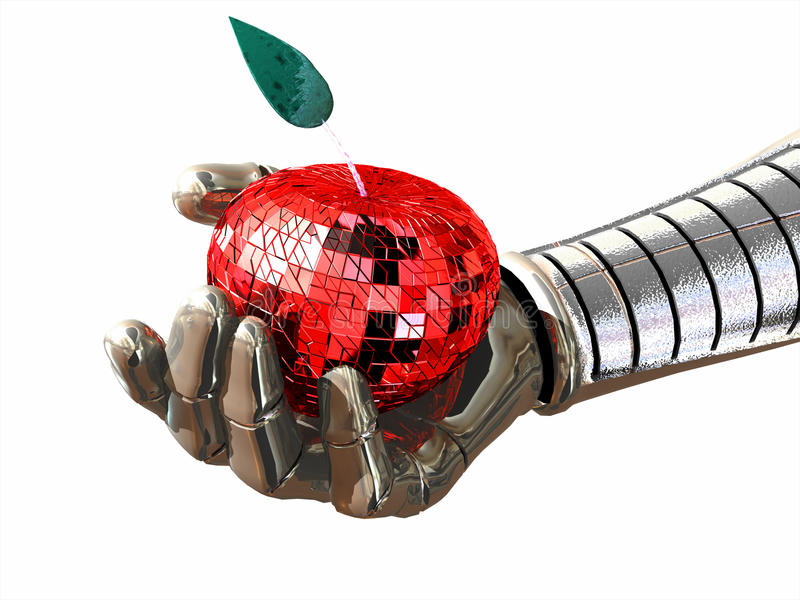 现有量机器人 皇族释放例证