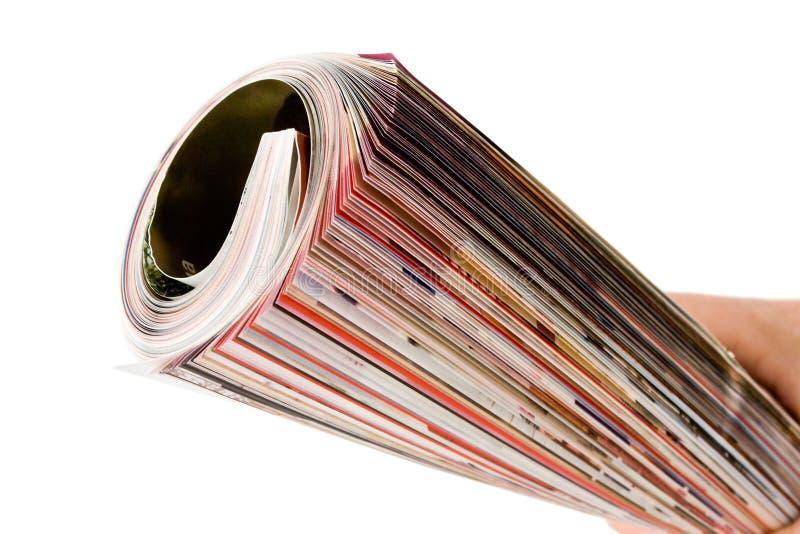 现有量杂志卷 图库摄影