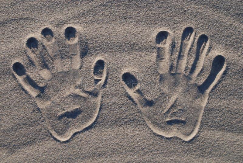 现有量沙子印花税 免版税库存照片
