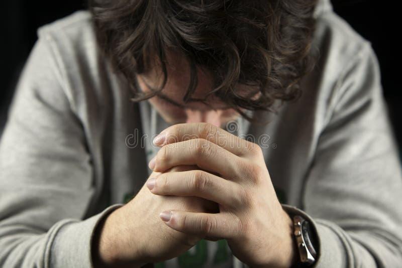 现有量祈祷 免版税库存照片
