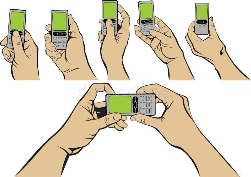 现有量移动电话 皇族释放例证