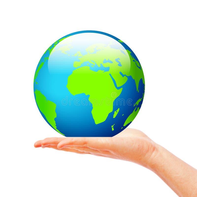 现有量藏品地球 向量例证