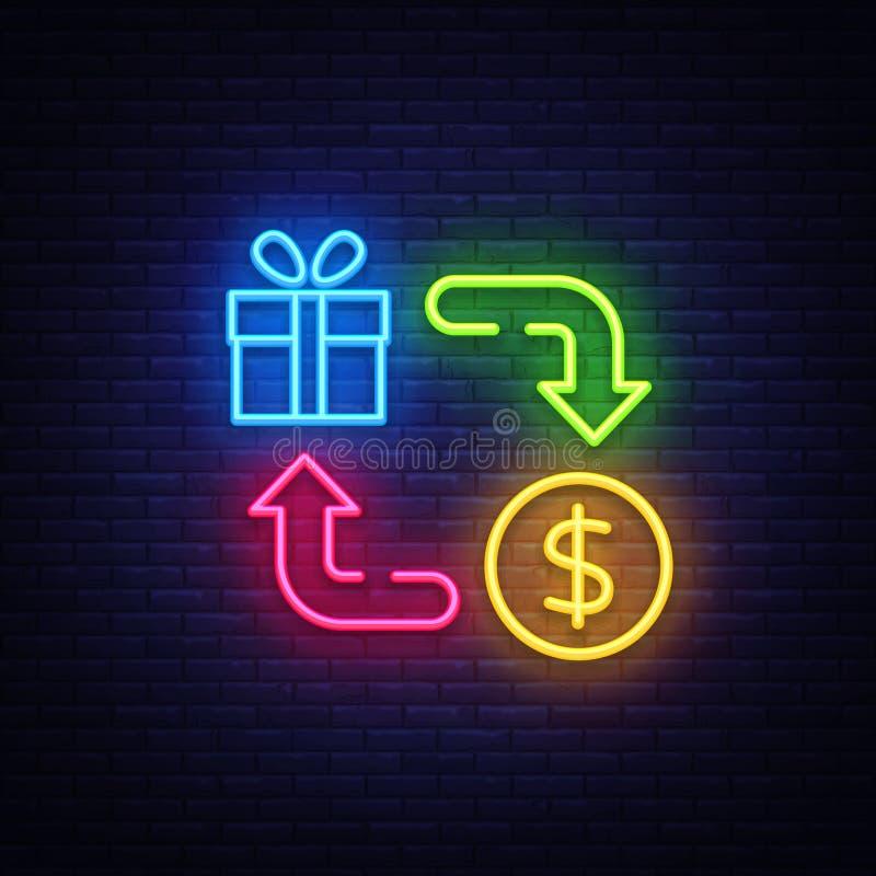 现金后面霓虹象传染媒介 兑现后面霓虹灯广告,设计模板,现代趋向设计,赌博娱乐场霓虹牌,夜 向量例证
