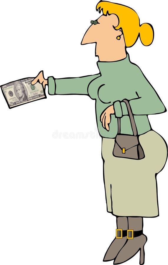 现金工资 向量例证