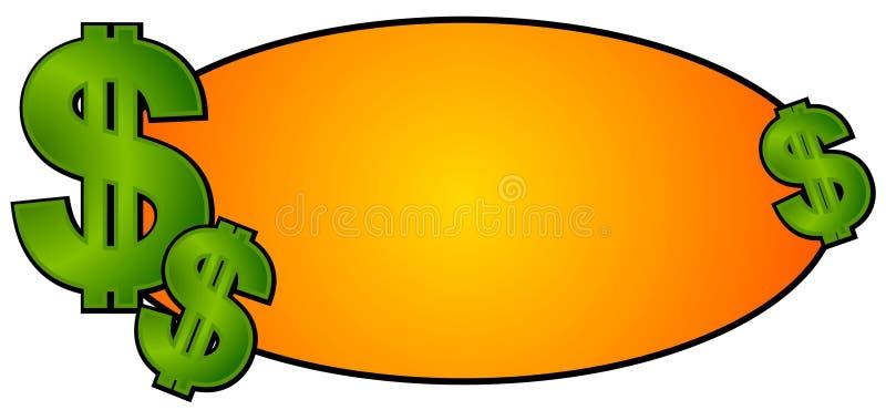 现金徽标货币签署站点万维网 库存例证
