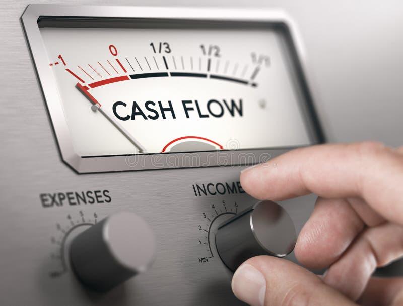 现金流危机概念 破产风险 免版税图库摄影