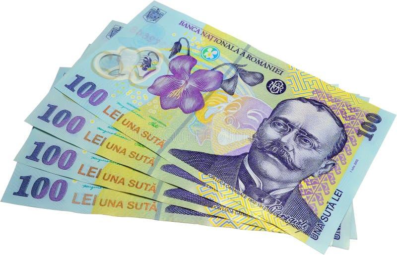 现金罗马尼亚语 免版税图库摄影