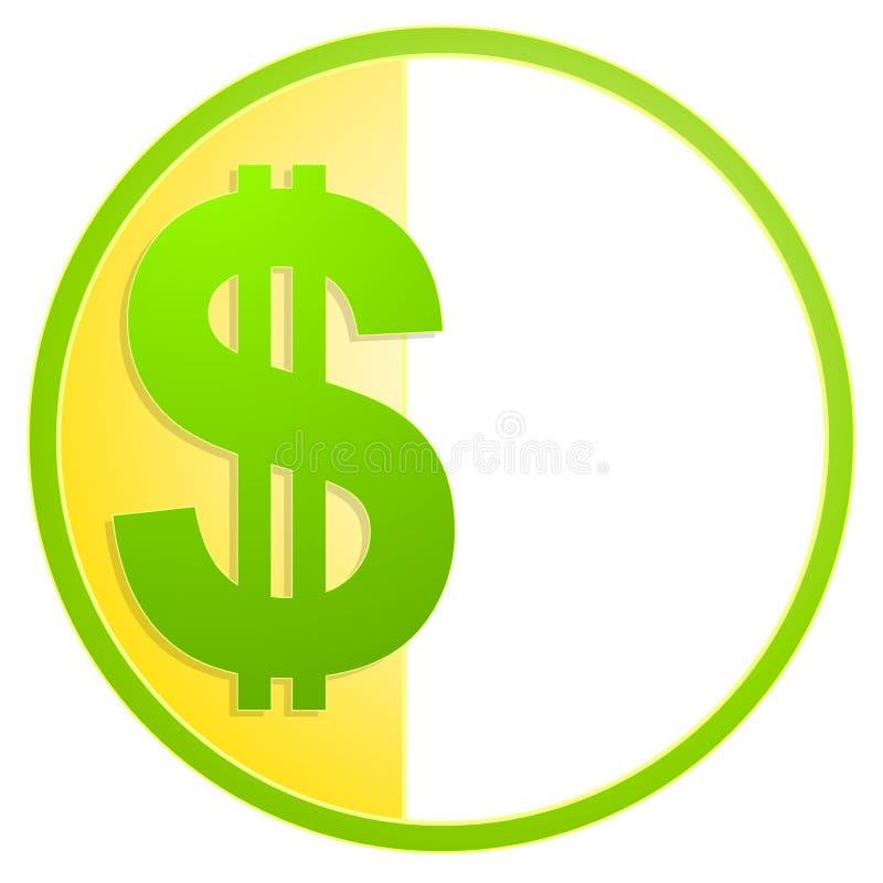 现金美元图标徽标符号 皇族释放例证