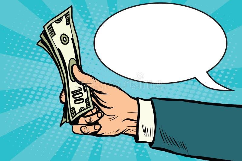 现金美元金钱财务减速火箭的传染媒介 向量例证