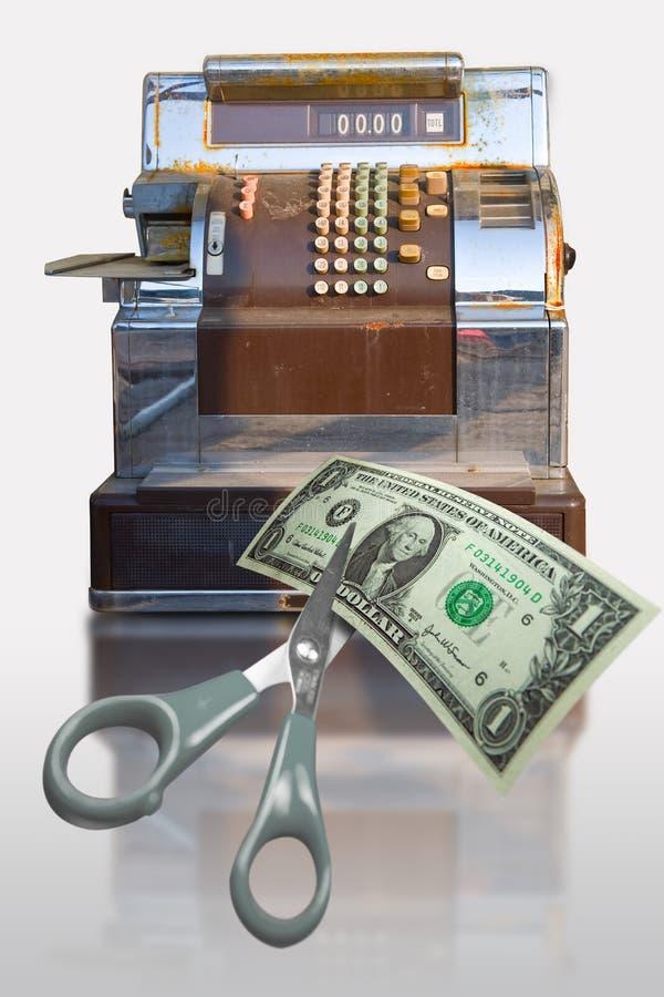 现金营销寄存器 图库摄影