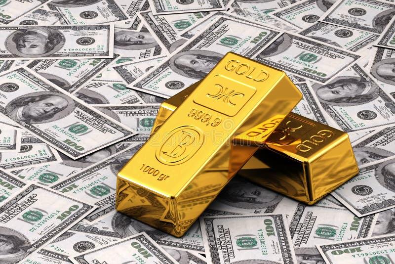 现金金子 向量例证