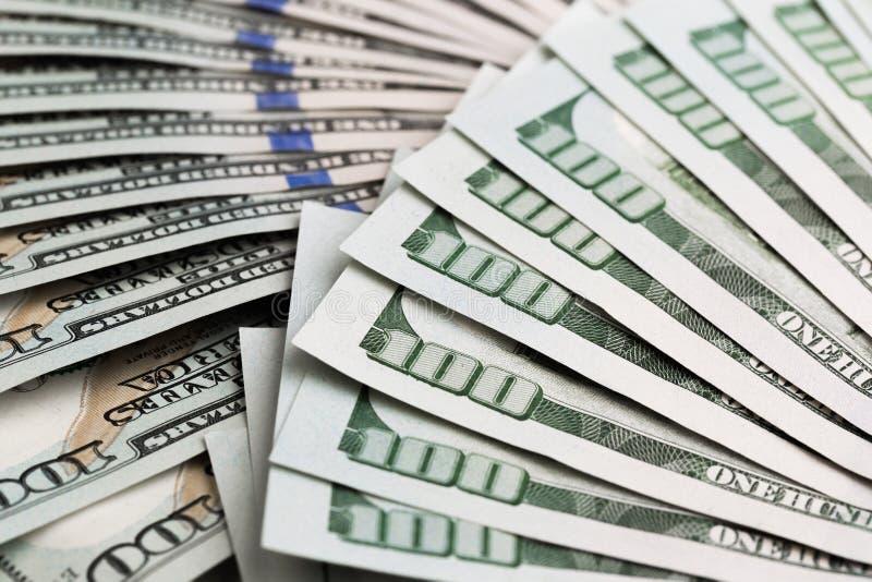 现金金钱美元 与货币美国人的背景一百元钞票 免版税图库摄影