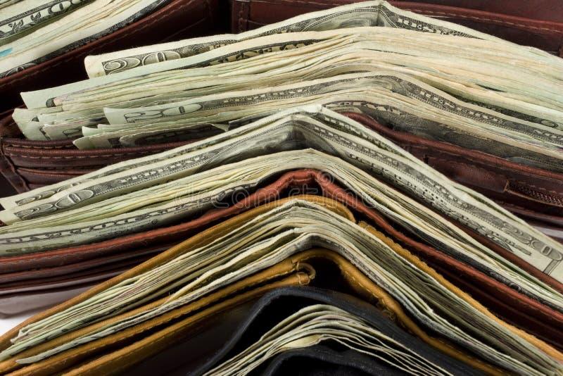 现金钱包 免版税库存图片