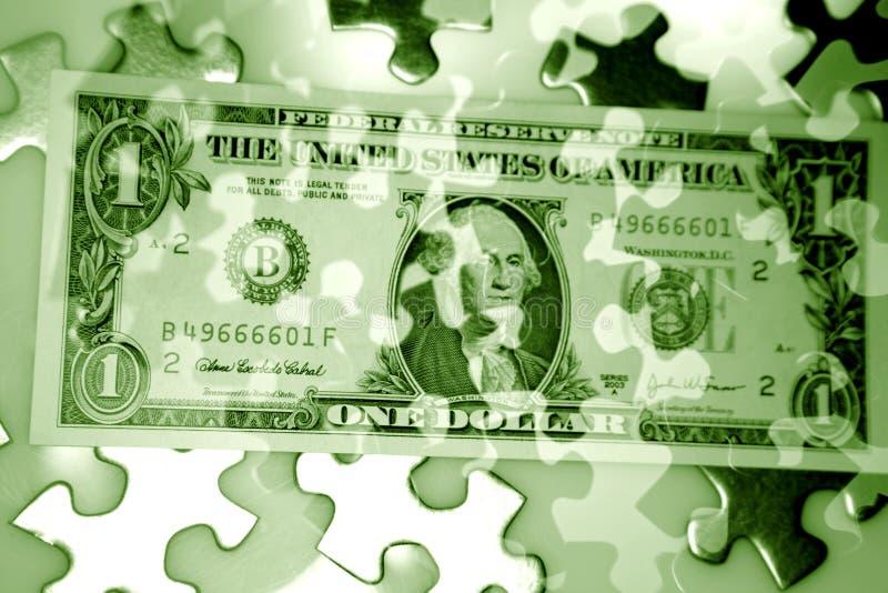 现金难题 免版税库存图片