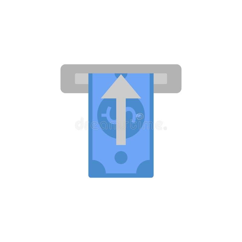 现金,现金,金钱,接受,撤出两种颜色的蓝色和灰色象 库存例证