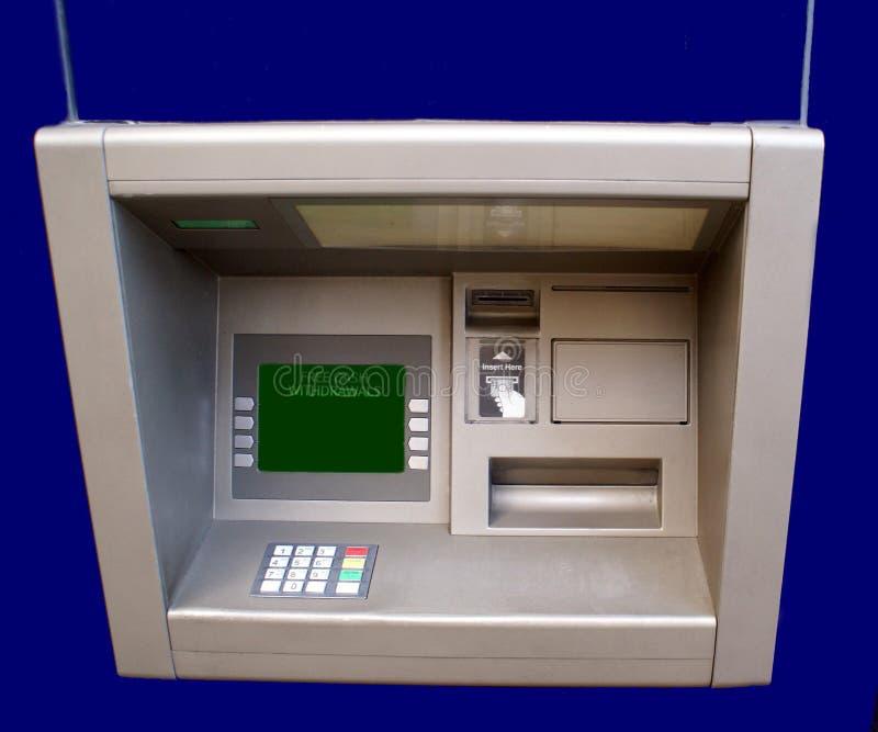 现钞机 Atm cashpoint 在墙壁的漏洞 横幅提供资金的 免版税库存图片
