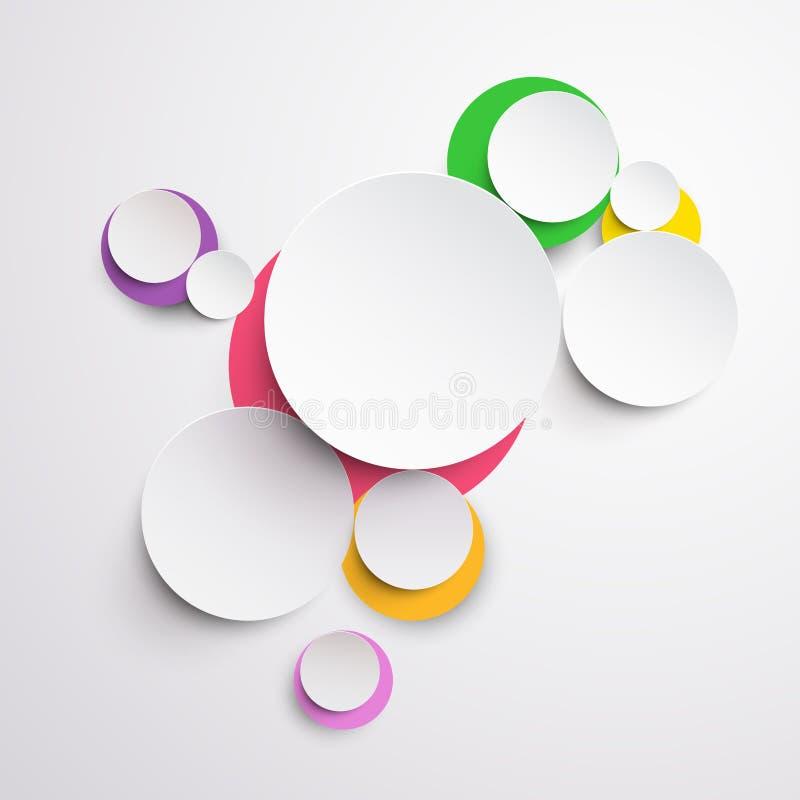 现代五颜六色的设计 皇族释放例证