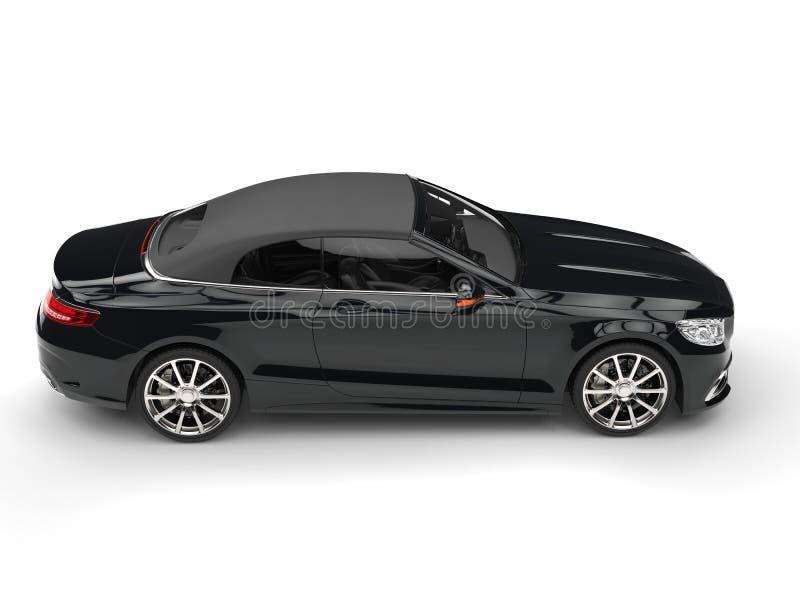 现代黑企业车的旁边顶视图 向量例证