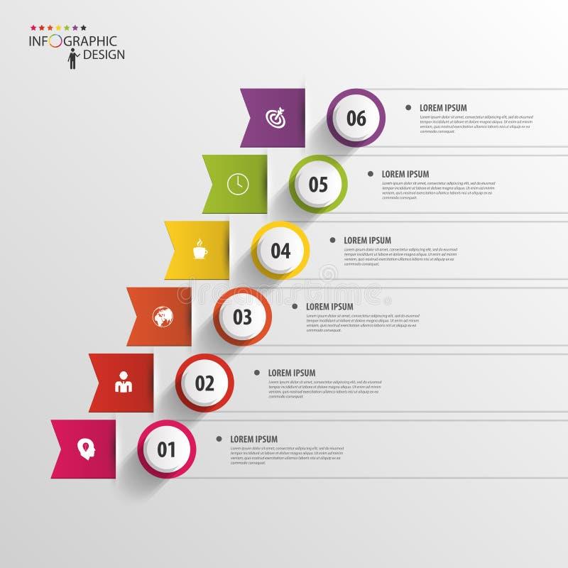 现代企业逐步的选择infographics 向量 向量例证
