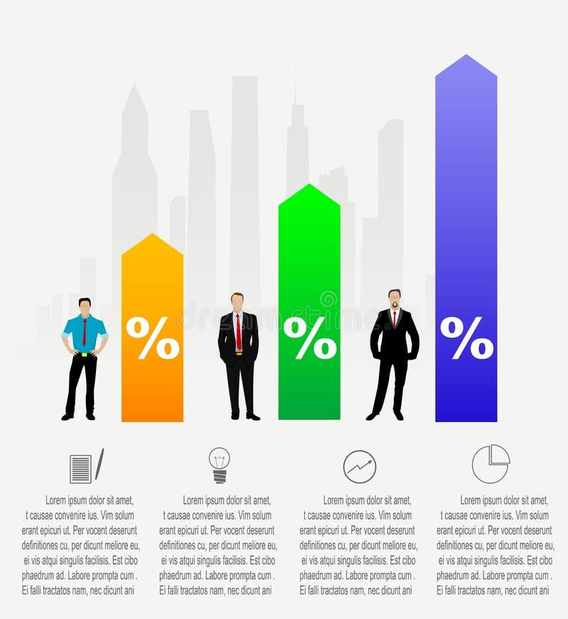现代企业infographics 库存例证