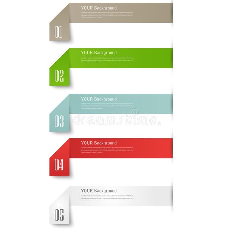 现代企业origami样式选择横幅 库存例证
