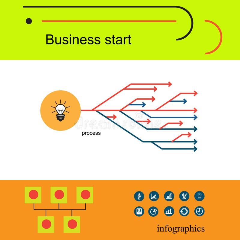 现代传染媒介企业概念、分析家和财务 库存例证
