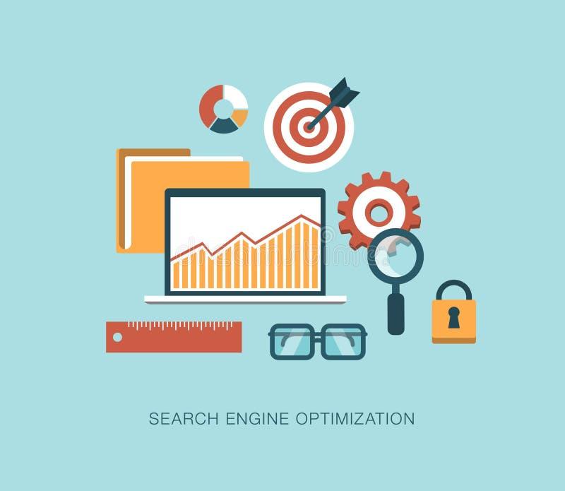 现代传染媒介搜索引擎优化概念例证 向量例证