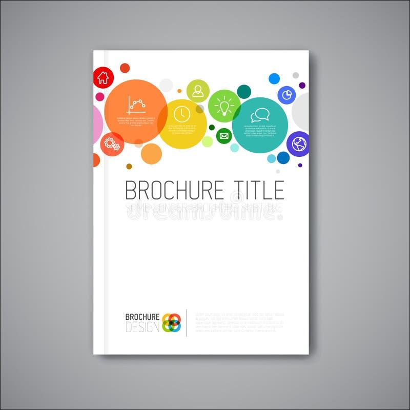 现代传染媒介摘要小册子设计模板 向量例证
