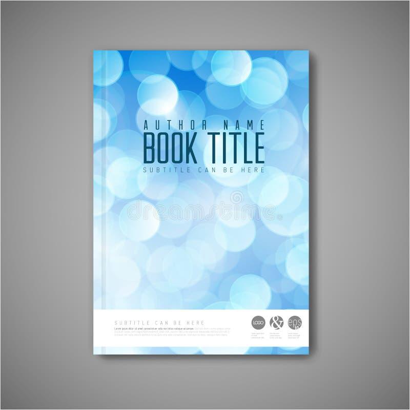 现代传染媒介摘要小册子/书/飞行物设计模板 库存例证