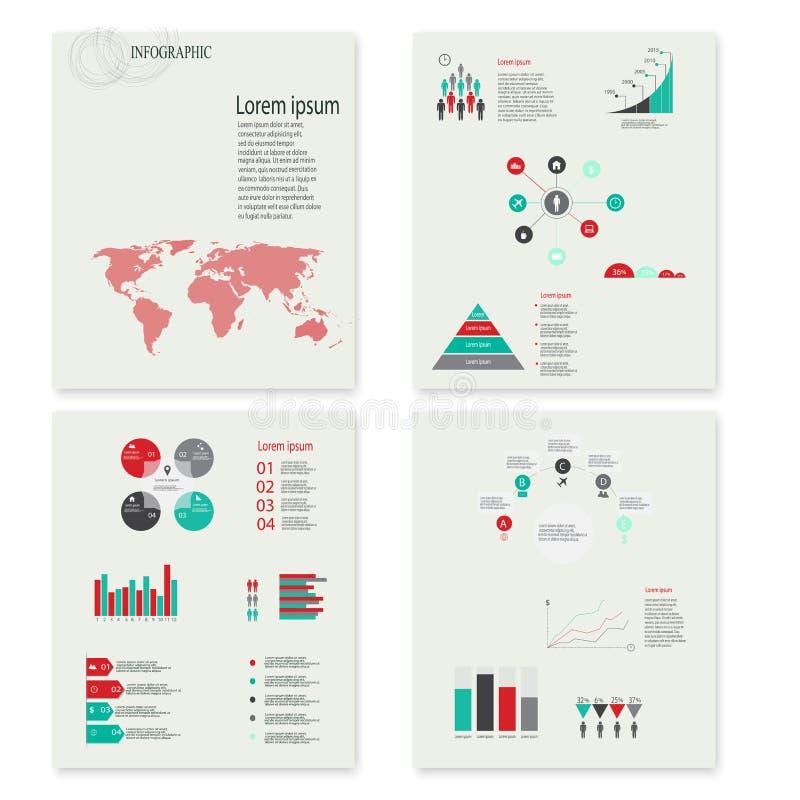 现代传染媒介摘要infographic元素 库存图片