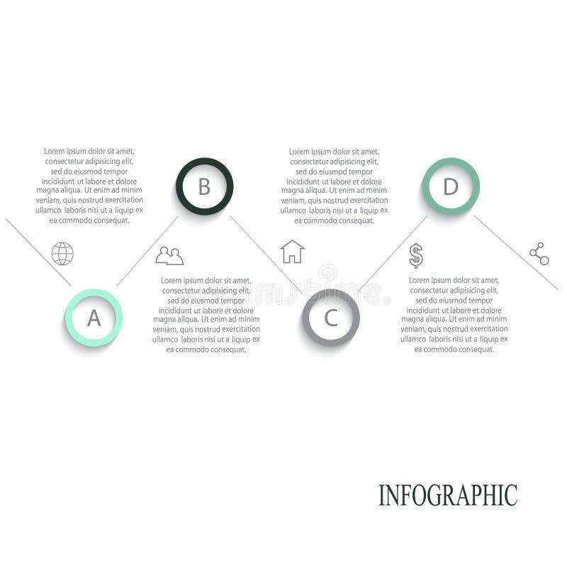 现代传染媒介摘要infographic元素 免版税图库摄影