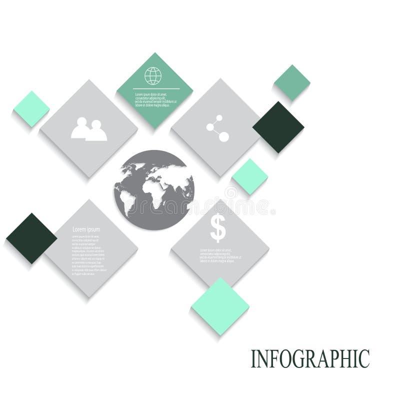 现代传染媒介摘要infographic元素 免版税库存图片