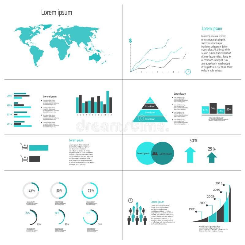 现代传染媒介摘要infographic元素 库存照片