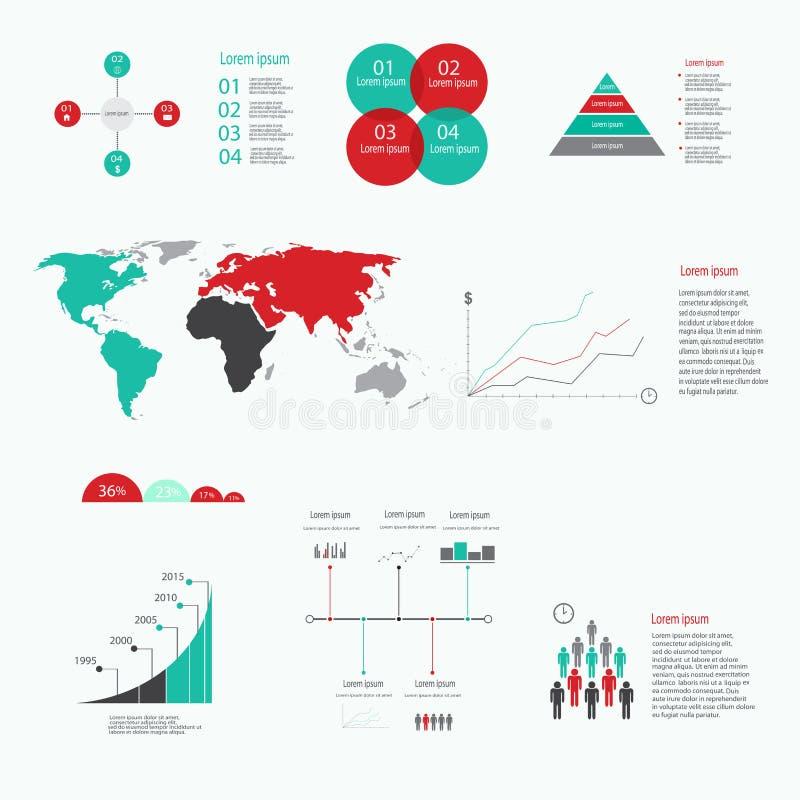 现代传染媒介摘要infographic元素 图库摄影