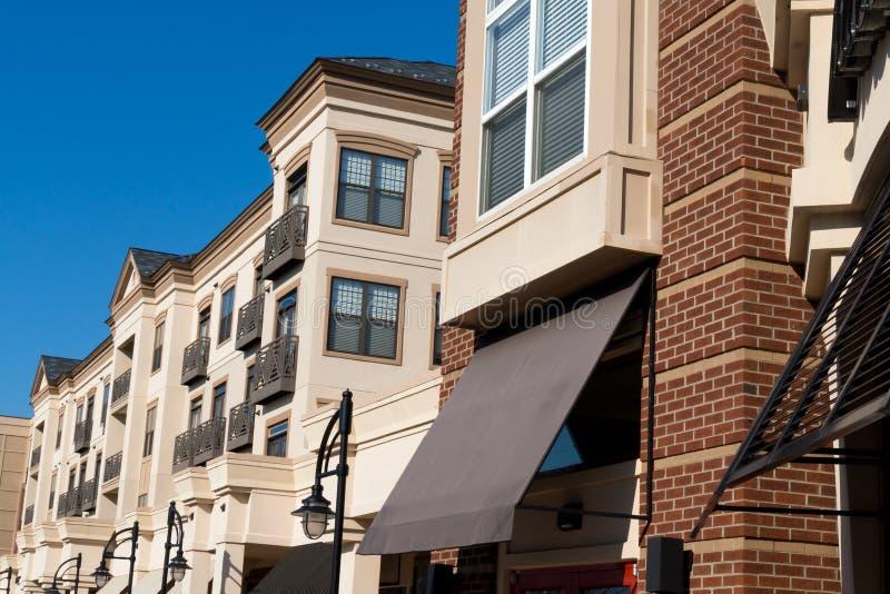 现代住宅复合体外部 免版税库存图片