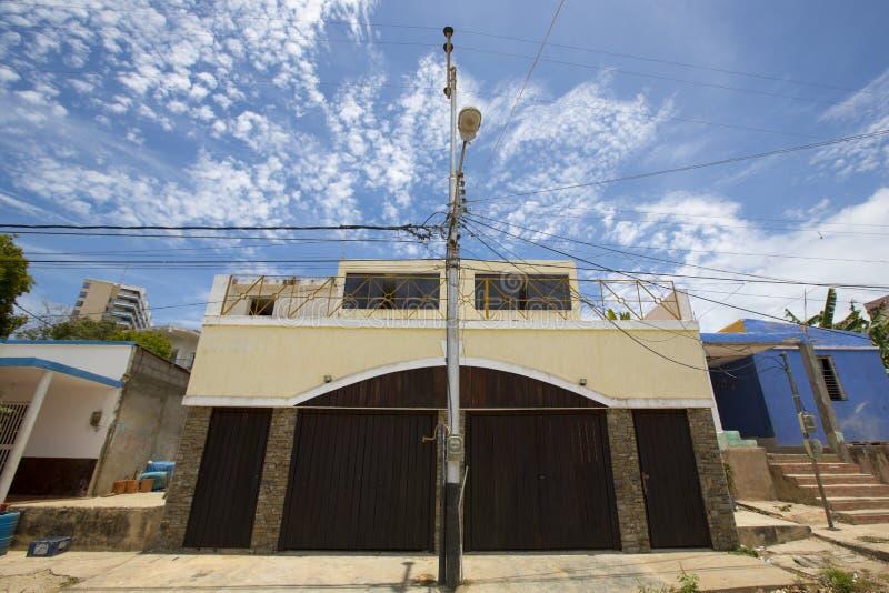 现代住宅房子在潘帕塔尔,委内瑞拉 免版税图库摄影