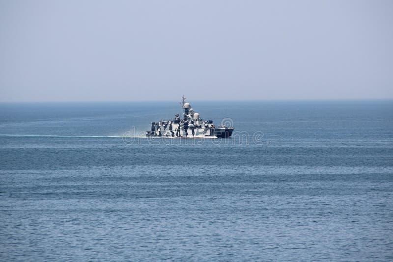 现代俄国军舰 库存图片