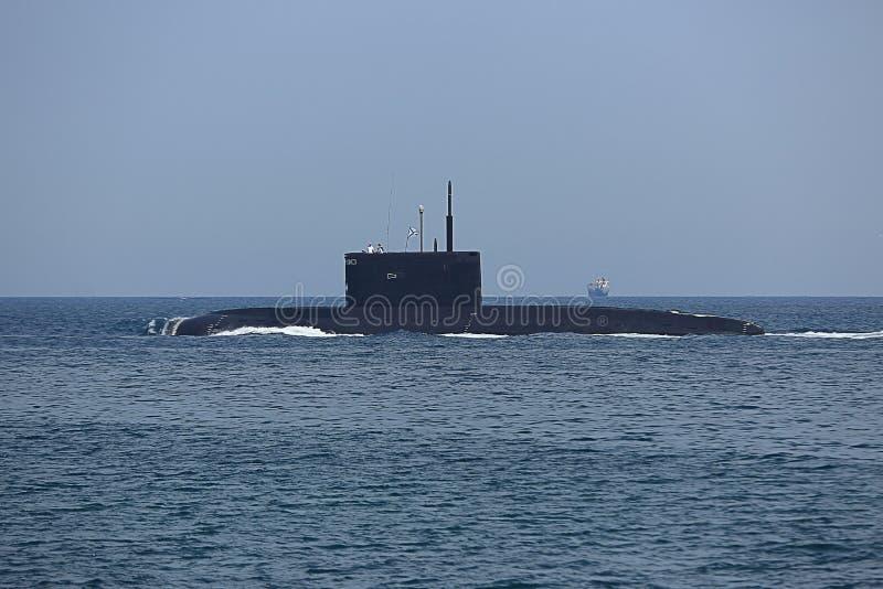 现代俄国导弹潜水艇 免版税图库摄影