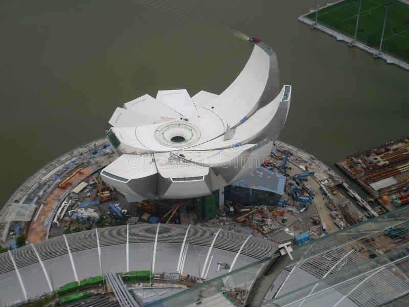 现代修造的新加坡的建筑 免版税库存图片