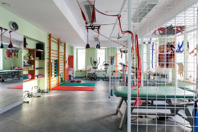 现代健身房 库存图片