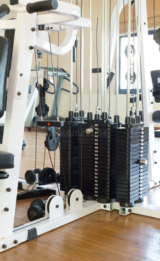 现代健身设备 免版税图库摄影