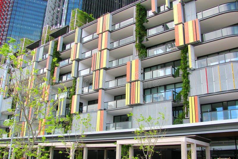 现代公寓,环形码头,悉尼,澳大利亚 免版税库存图片