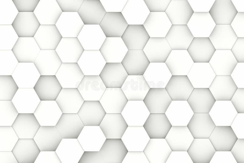 现代六角形背景 向量例证