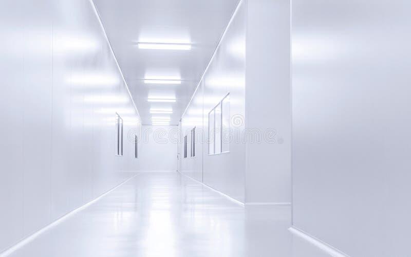 现代内部科学实验室背景 库存图片