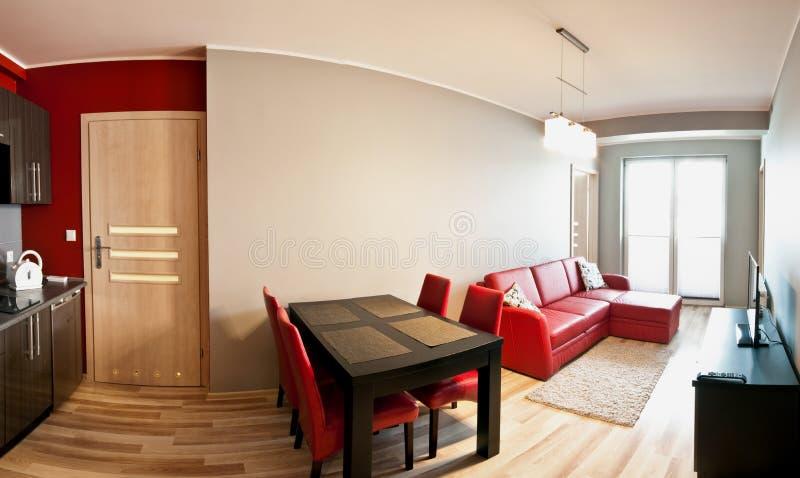 现代紧凑公寓 免版税库存图片