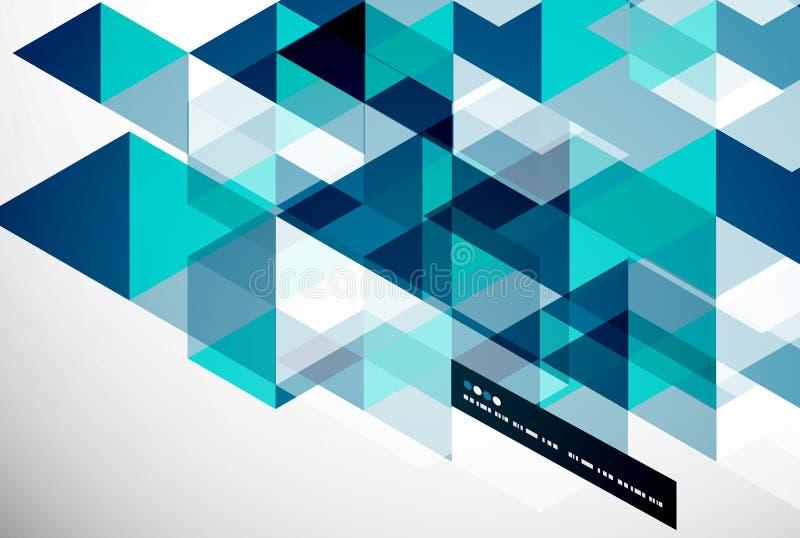 现代几何抽象模板 皇族释放例证